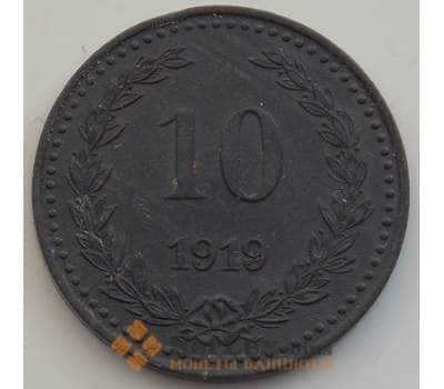 Германия нотгельд 10 пфеннигов 1919 aUNC Бромберг арт. 12907