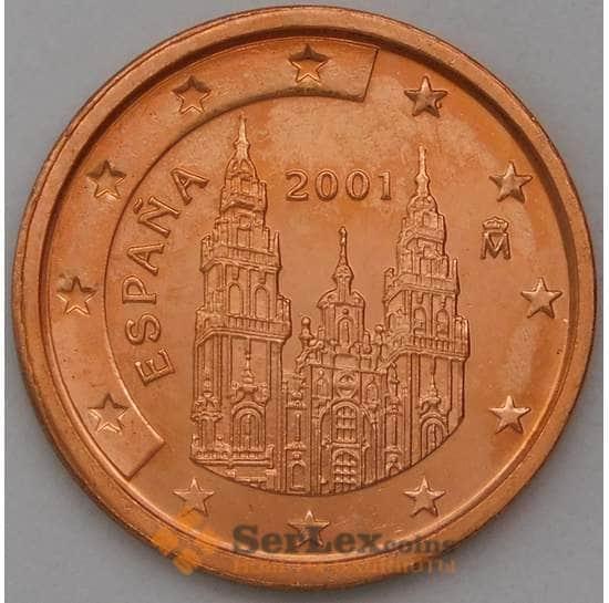 Испания 2 евроцента 2001 BU арт. 28525