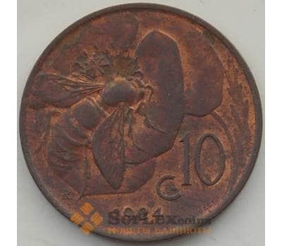 Италия 10 чентезимо 1924 КМ60 aUNC арт. 13066