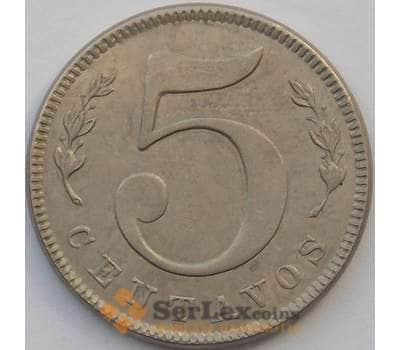 Колумбия 5 сентаво 1886 КМ183 aUNC (J05.19) арт. 17438