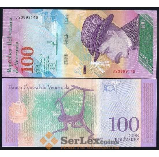 Венесуэла 100 боливар 2018 Р106 UNC  арт. 17543