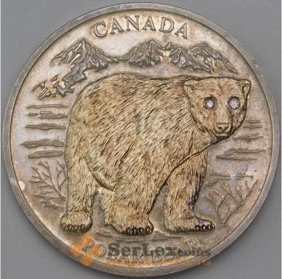 Либерия 10 долларов 2004 КМ720 Полярный медведь позолота арт. 30001