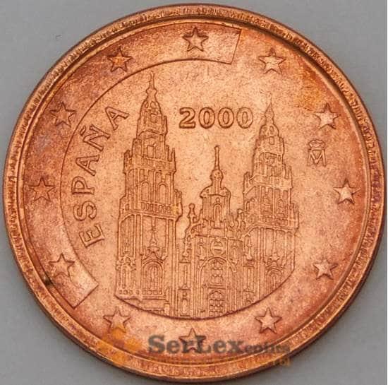 Испания 2 евроцента 2000 BU наборная арт. 28831