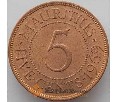 Маврикий 5 центов 1969 КМ34 aUNC (J05.19) арт. 17401
