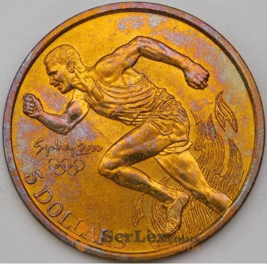 Австралия 5 долларов 2000 КМ356 BU Легкая атлетика Олимпиада арт. 28050