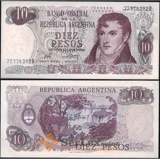 Аргентина 10 песо 1973-1976 P295 UNC  арт. 9912