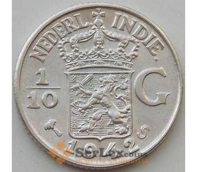 Нидерландская Восточная Индия 1/10 гульдена 1942 S КМ318 aUNC арт. 14596
