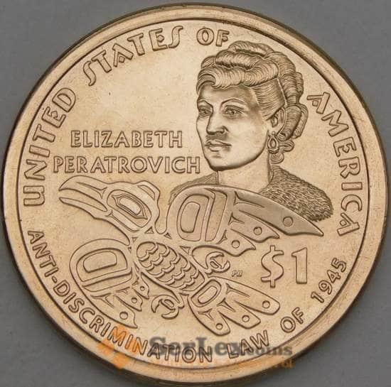 США 1 доллар 2020 Сакагавея Элизабет Ператрович P UNC арт. 21821
