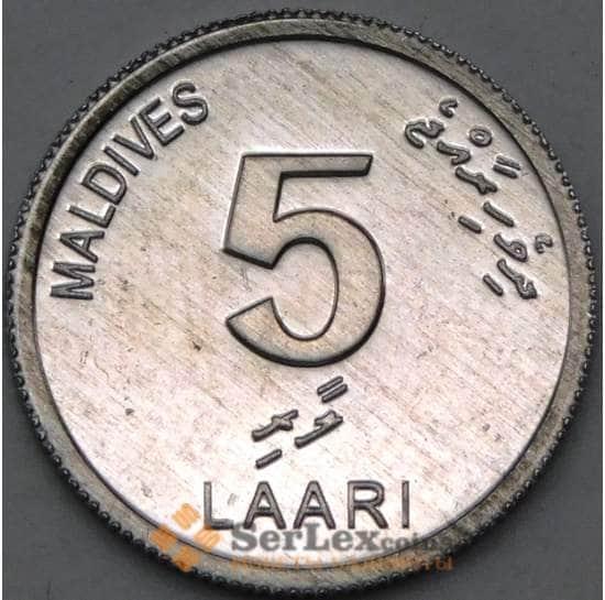 Мальдивы 5 лаари 2012 КМ114 UNC арт. 22156