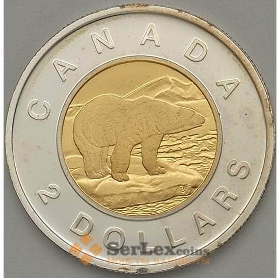 Канада 2 доллара 2002 КМ449а Proof Серебро 50 лет Правления арт. 17627