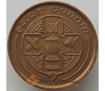 Мэн остров 2 пенса 1992 КМ208 XF арт. 13926