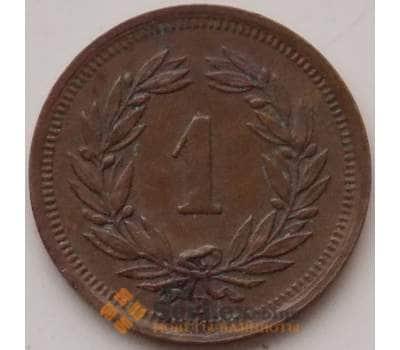 Швейцария 1 раппен 1932 КМ3 XF арт. 12894