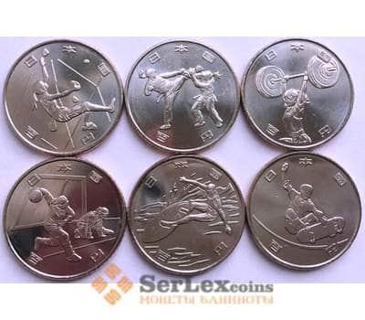 Япония Набор 100 йен *6 шт 2019 UNC Олимпиада Токио '2020  арт. 16910