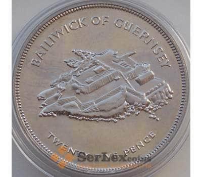 Гернси 25 пенсов 1977 КМ31 BU Правление Королевы Елизаветы II арт. 14313