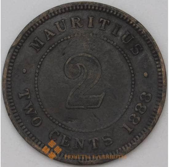 Маврикий 2 цента 1888 КМ8 VF арт. 22950