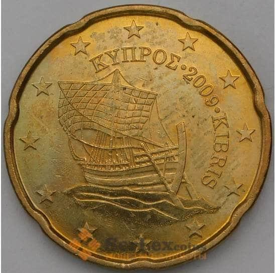 Кипр 20 центов 2009 BU Из набора арт. 28555