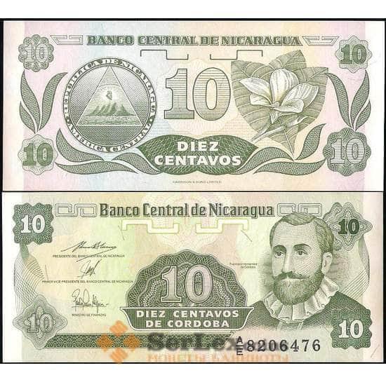 Никарагуа 10 сентаво 1991 Р169 UNC арт. 22510