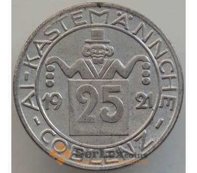Германия нотгельд 25 пфеннигов 1921 UNC Кобленц арт. 12903