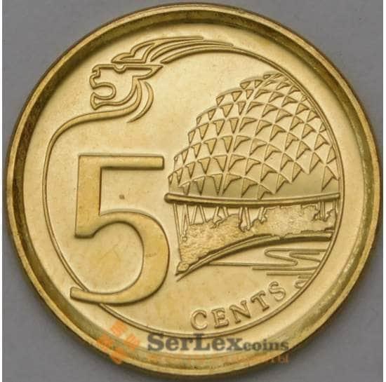 Сингапур 5 центов 2017 КМ345 UNC арт. 22159