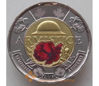 Канада 2 доллара 2018 Окончание Первой мировой войны UNC Цветная арт. 13396