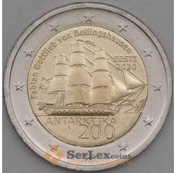 Эстония 2 евро 2020 UNC 200 лет Открытия Антарктиды арт. 21756
