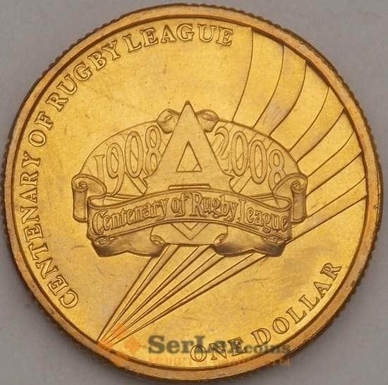 Австралия 1 доллар 2008 КМ1052 UNC Регби (n17.19) арт. 21580