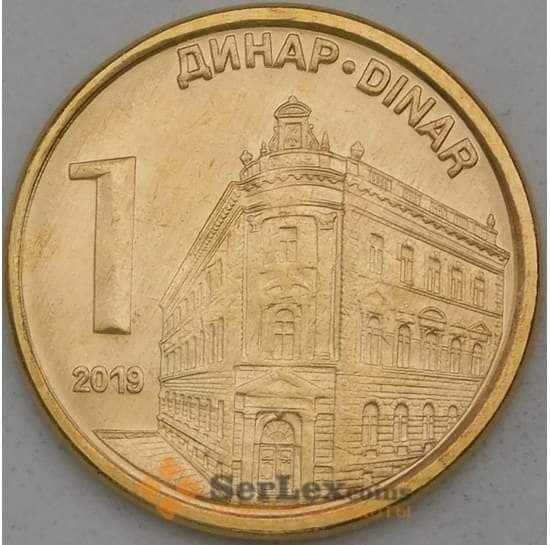 Сербия 1 динар 2019 КМ54 UNC арт. 27077
