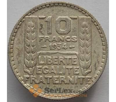 Франция 10 франков 1934 КМ878 XF Серебро (J05.19) арт. 15256