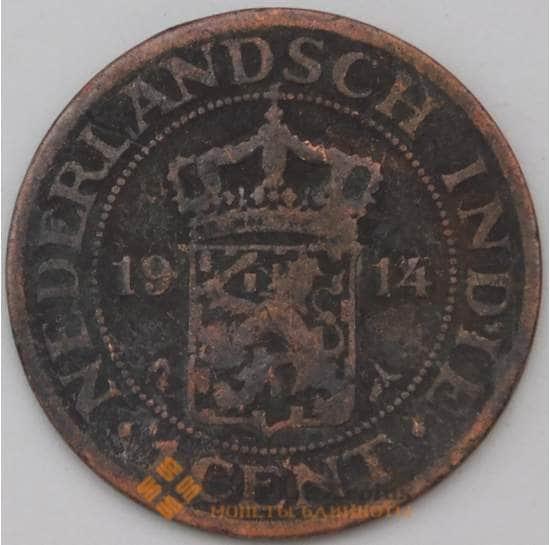 Нидерландская Восточная Индия 1 цент 1914 КМ315 F  арт. 23705