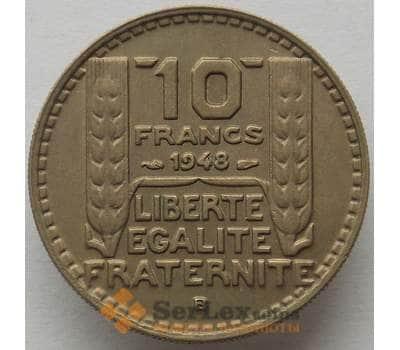 Франция 10 франков 1948 В КМ909 aUNC (J05.19) арт. 15282