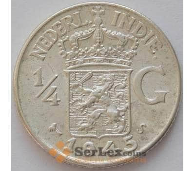 Нидерландская Восточная Индия 1/4 гульдена 1945 S KМ319 AU (J05.19) арт. 16644