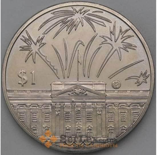 Восточно-Карибские острова 1 доллар 2002 КМ86 Правление Елизаветы II арт. 26721