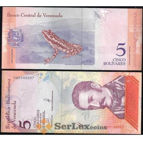Венесуэла 5 боливар 2018 UNC арт. 13203
