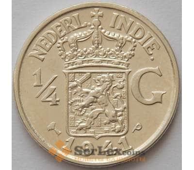 Нидерландская Восточная Индия 1/4 гульдена 1941 Р КМ319 UNC (J05.19) арт. 16665