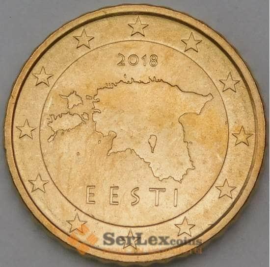 Эстония 10 центов 2018 КМ64 UNC арт. 29037