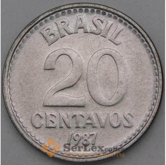Бразилия 20 сентаво 1987 КМ603 UNC арт. 26955
