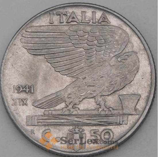 Италия 50 чентезимо 1941 КМ76b магнитная арт. 28959