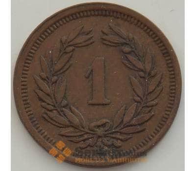 Швейцария 1 раппен 1934 КМ3 XF+ арт. 13254