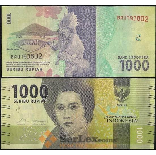 Индонезия 1000 рупий 2016 UNC арт. 7827