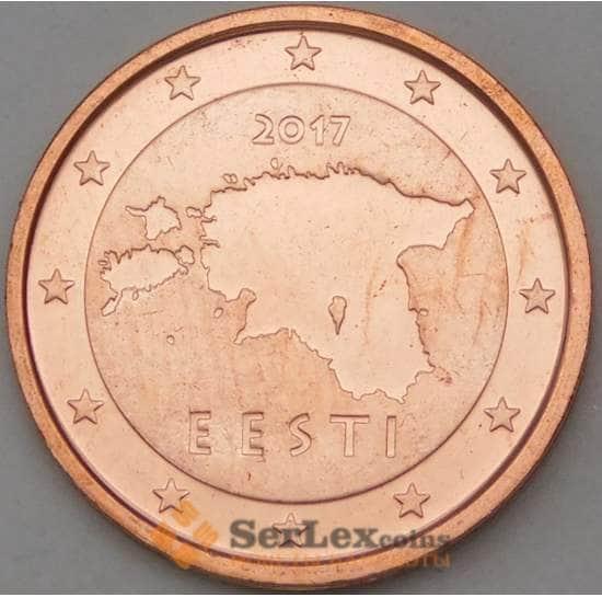 Эстония 2 цента 2017 КМ62 UNC арт. 29039