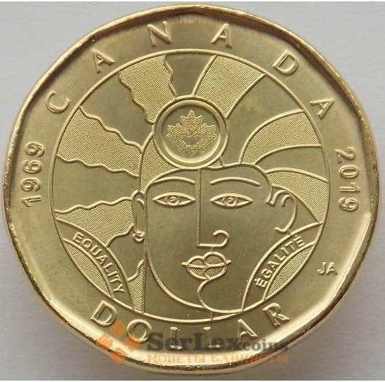 Канада 1 доллар 2019 UNC 50 лет прекращения преследования геев арт. 16003