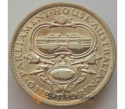 Австралия 1 флорин 1927 КМ31 VF Открытие здания парламента в Канберре (J05.19) арт. 17213