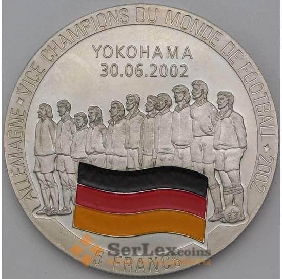 Конго 5 франков 2002 UC201 Футбол ЧМ. Команда Германии вицечемпионы арт. 27094