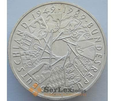 Германия 10 марок 1989 КМ173 UNC 40 лет ФРГ Серебро  (J05.19) арт. 16276