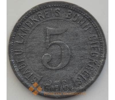 Германия нотгельд 5 пфеннигов 1919 aUNC Бонн арт. 12922