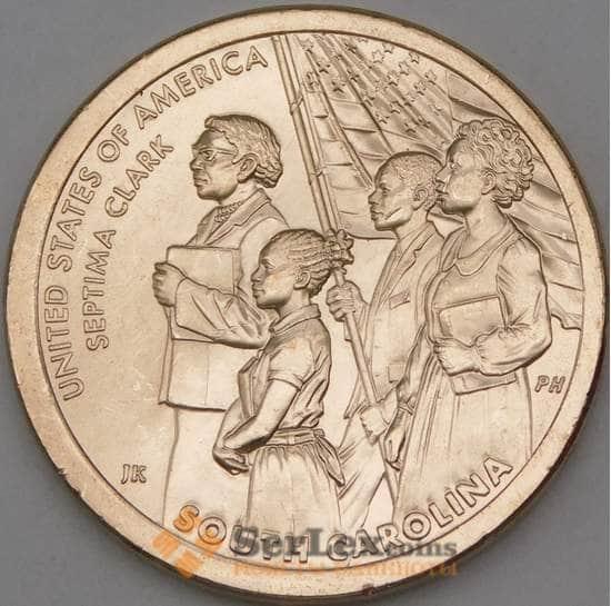 США 1 доллар 2020 UNC P Инновации №9 Южная Каролина- Кларк арт. 26925
