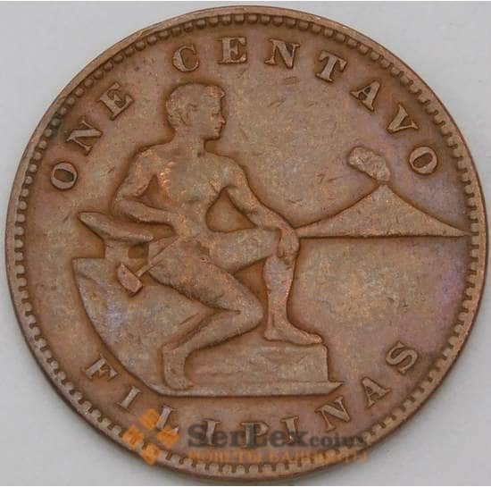Филиппины 1 сентаво 1933 КМ163 VF+ арт. 28883