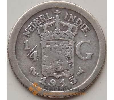 Нидерландская Восточная Индия 1/4 гульдена 1915 КМ312 VF арт. 12868