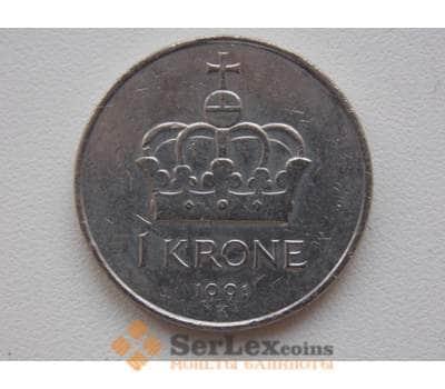 Норвегия 1 крона 1991 КМ419 арт. С00446