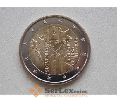 Словения 2 евро 2014 Барбара Цилли арт. С00520